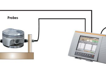 Schematic layout of automated coating thickness measurement with FISCHERSCOPE® MMS® PC2.
